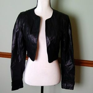 Guess size small faux leather jacket